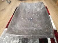 Solid marble sinkk