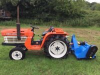 Kubota B1600 2WD Compact Tractor with New 4FT Flail Mower, 980 Hours, 20HP, Nice Compact tractor