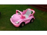 Girls battery operated convertable beetle.