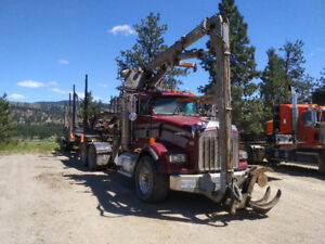 2004 T800 Self-Loader Logging Truck