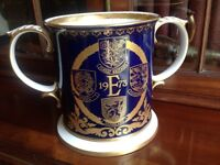 SPODE LIMITED EDITION EU LOVING CUP 1973 - BRITAIN'S ENTRY INTO THE EU - NUMBER 266 OF 500
