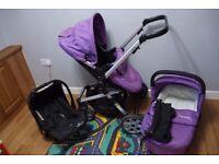 Baby Elegance Beep Twist Travel System 3 in 1 - Purple
