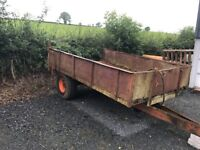 Tipping trailer for tractor on farm