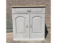 vintage oak storage cupboard