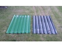 Metal roof sheets, various sizes