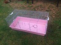 Large indoor rabbit hutch/cage - Pink