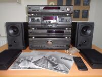 Awesome Technics Separates System with Stunning Mission 780SE Speakers & All Wires, Manuals + Remote