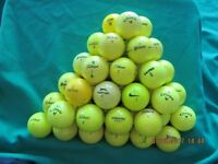 FORTY YELLOW GOLF BALLS