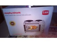 Morphy Richards Convection Mini Oven - Silver, used once