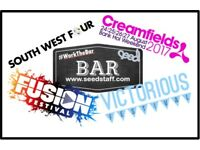 Bar Work at Creamfields Festival (24th-27th August)