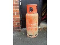 Empty propane gas bottle