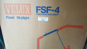 3 Velux skylights in the box with flashing 44 3/4 x 46 1/2