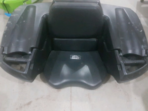 Moose atv second seat with lockable storage and gas can storage