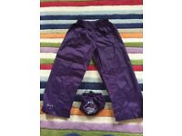 Mountain warehouse kids waterproof trousers age 3-4