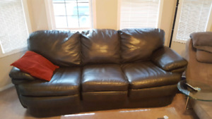 *** Charcoal leather couch ***