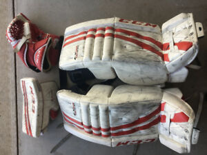 "30"" CCM Goalie Pads, Glove & Blocker"