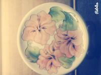 "Moorcroft 10"" Hibiscus Plate."