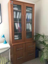 MFI bookshelves and 2 pedestal units