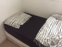 A clean and quiet room for rent in a furnished flat