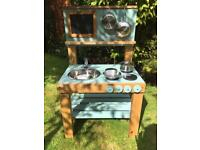 Children's Mud Kitchen, Pots and Pans included