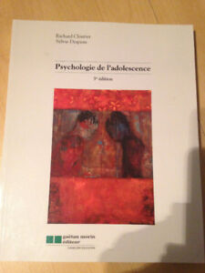 Psychologie de l'adolescence, 3e édition