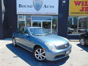 2005 Infiniti G35X AWD-LEATHER,SUNROOF,ALLOYS,ACCIDENT FREE