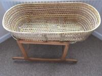Moses basket with new mattress