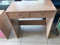 Brand New Pine Effect 2 Drawer Desk