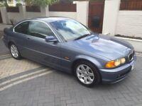 BMW 323 CI COUPE 2.5 PETROL MANUAL **FSH 9 BMW STAMPS** 110K, MOT 29/11/17 1 ADVISORY EX/CON £995
