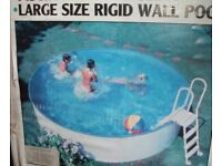 Swimming Pool For Sale, galvanized steel wall with vinyl liner 3.5m diameter x 1.0m high