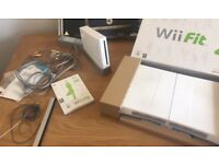 wii fit bored game and console