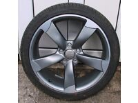 ONE NEW 18inch alloy WHEEL to fit audi with brand new tyre