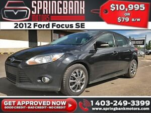 2012 Ford Focus SE Hatch $79B/W INSTANT APPROVAL, DRIVE HOME TOD