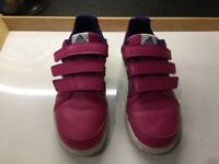 Girls Adidas trainers (size 4UK)