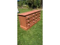 2 Solid Waxed Pine Chest of 6 Drawers from Jack Spratts