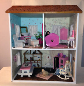 Solid Wood Barbie Doll House
