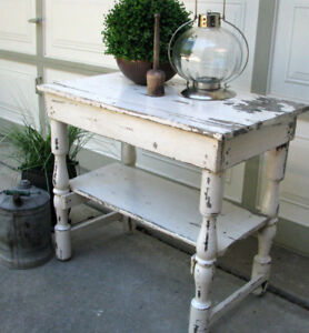 ANTIQUE SHABBY CHIC TABLES  FOR SALE