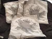4x gold floral cushion covers
