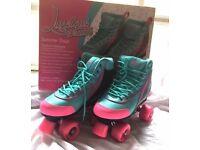 Retro Quad Roller Skates - Girls/Ladies, a small Size 7