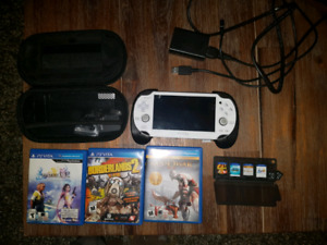 Mint white PS Vita 1001 bundle