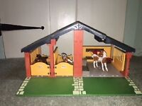 Playmobil Stables and Schleich horses
