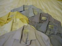 7 Van Heusen tailored shirts. Size 16 collar. Like new. Mix of colours. £10 for all 7