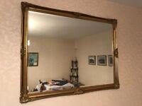 "Ornate wall mirror (52""x40"")"