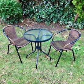 Europa 2 Seater Garden Table & Chairs, RRP: £200, Immaculate!