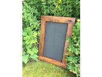 Chunky wooden chalkboard menu farmhouse cottage chalkboard menu