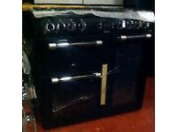 LEISURE Range cooker NEW GAS 100cm PRP £999 GRADED BLACK RANGEMASTER