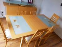 Dining room table and matching sideboard