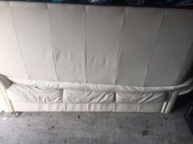 Cream Leather Sofa - Real leather
