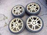 X4 Subaru Impreza Classic WRX GOLD Wheels 17 inch