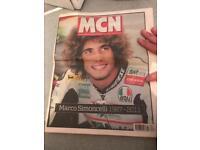 Rare mcn news Marco simoncelli
